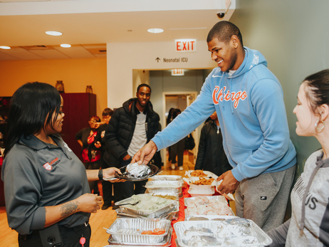 Bulls Serve Dinner for Ronald McDonald House Families at Comer Children's Hospital