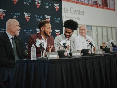 Photo Gallery: Coby White and Daniel Gafford at the Advocate Center