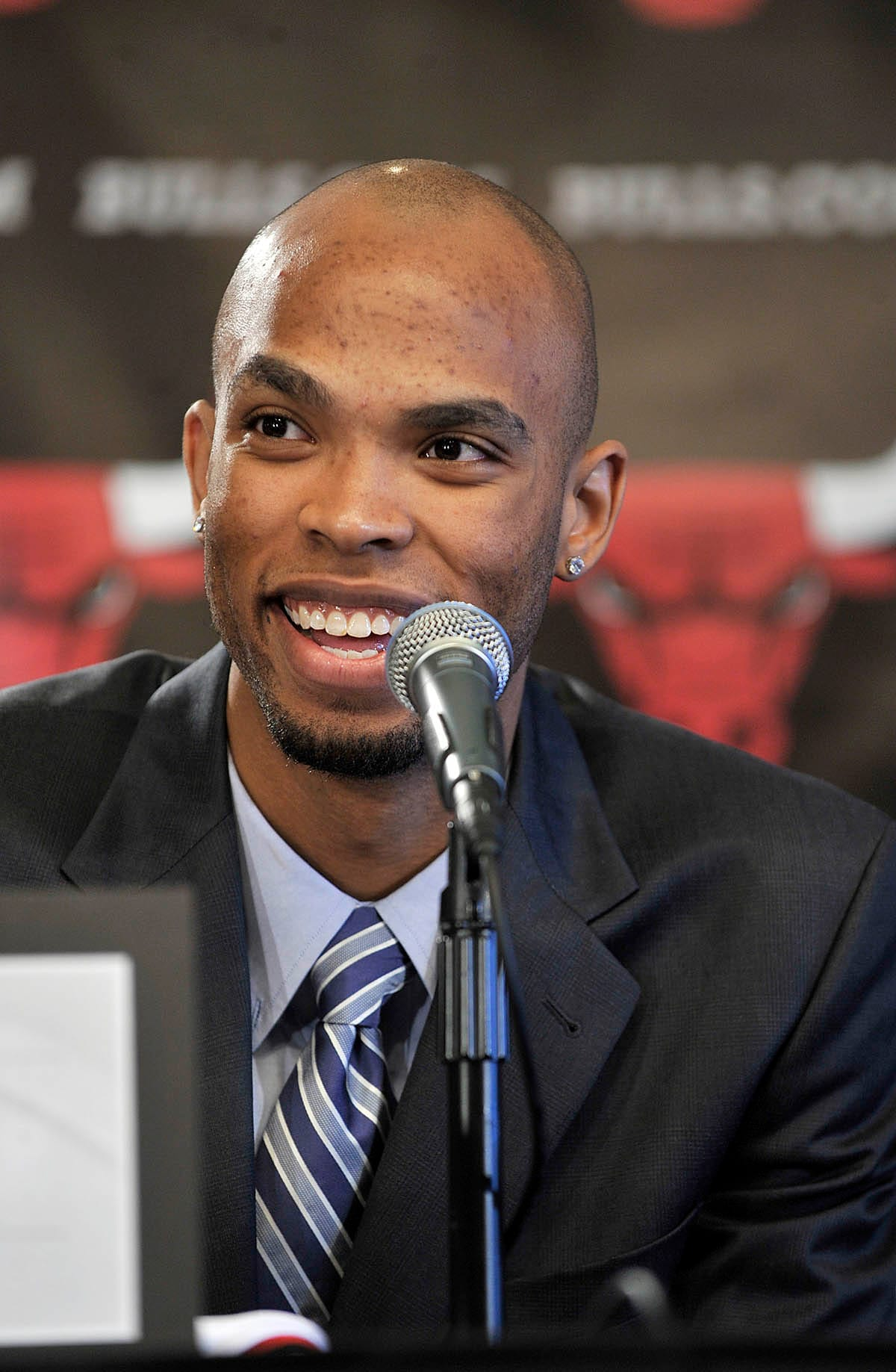 Taj Gibson talks shortly after being drafted by the Bulls