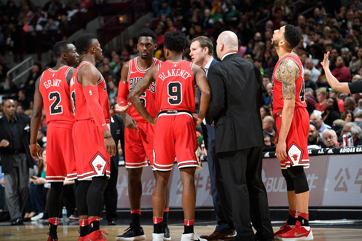 Fred Hoiberg addresses his team during a time-out