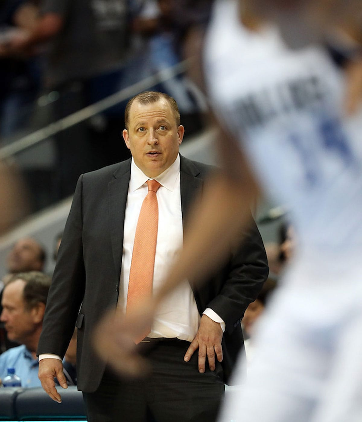 Tom Thibodeau of the Minnesota Timberwolves at American Airlines Center on November 17, 2017 in Dallas, Texas.