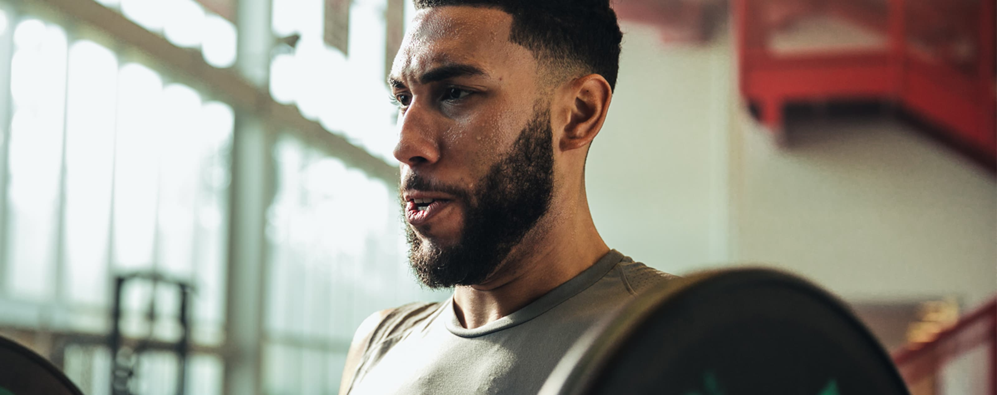 Denzel Valentine in the weight room