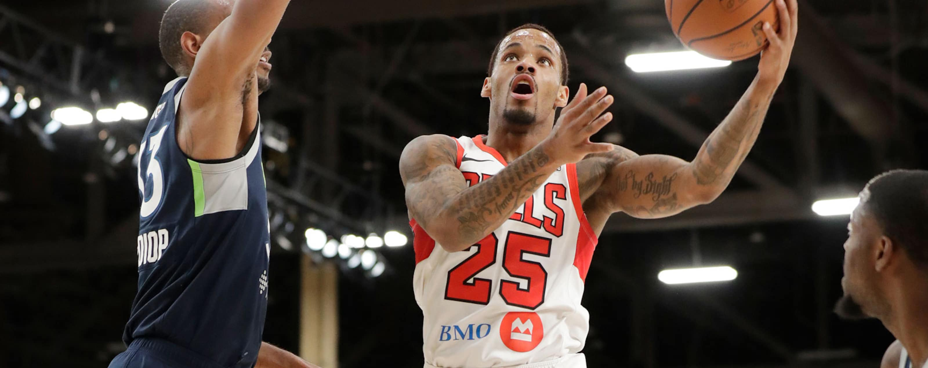 Walter Lemon Jr., #25 of The Windy City Bulls shoots the ball against the Iowa Wolves during the NBA G League Winter Showcase at Mandalay Bay Events Center in Las Vegas, Nevada on December 21, 2018.