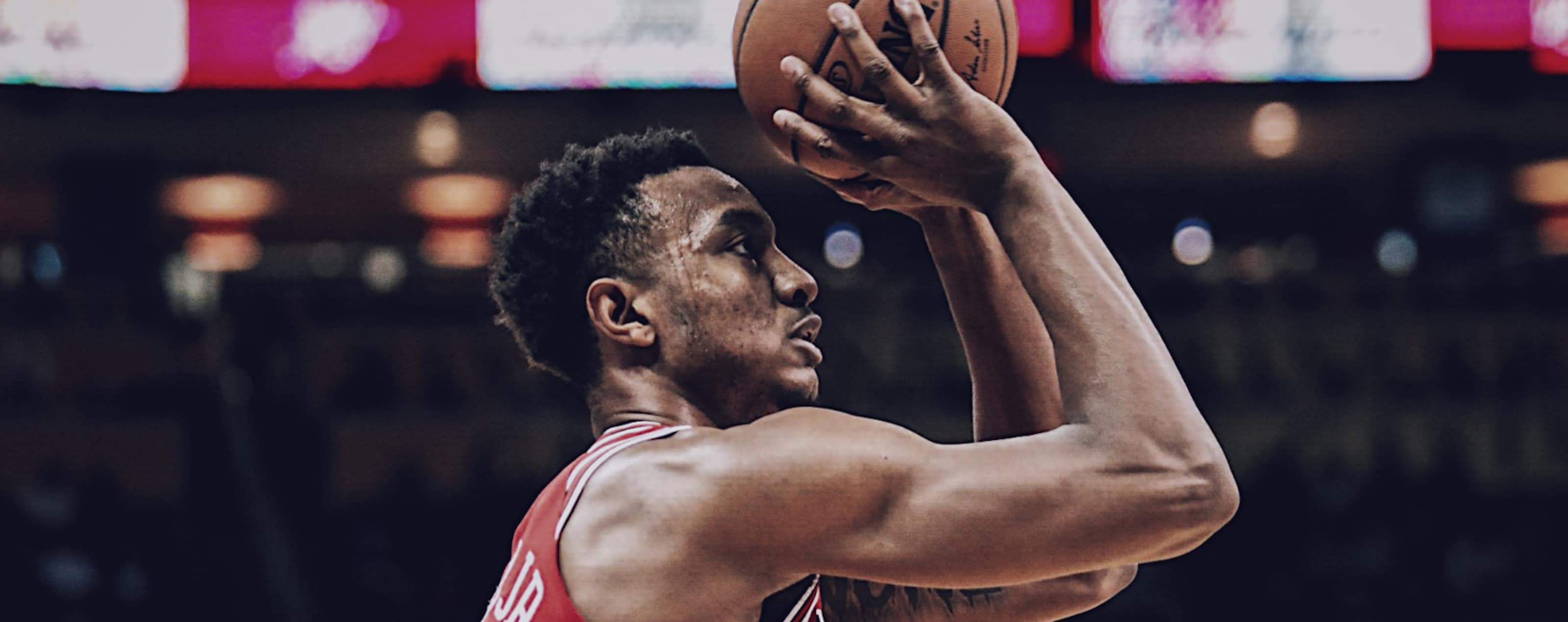 Wendell Carter Jr. shoots the ball against the Oklahoma City Thunder