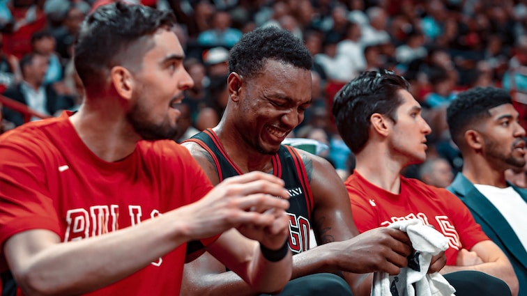 Wendell Carter laughing