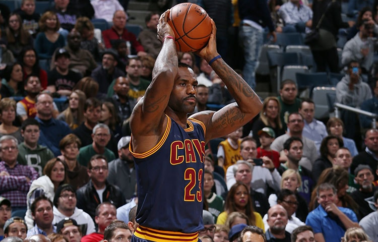 c9ccd13e8f82 LeBron James  23 of the Cleveland Cavaliers looks to move the ball against  the Milwaukee