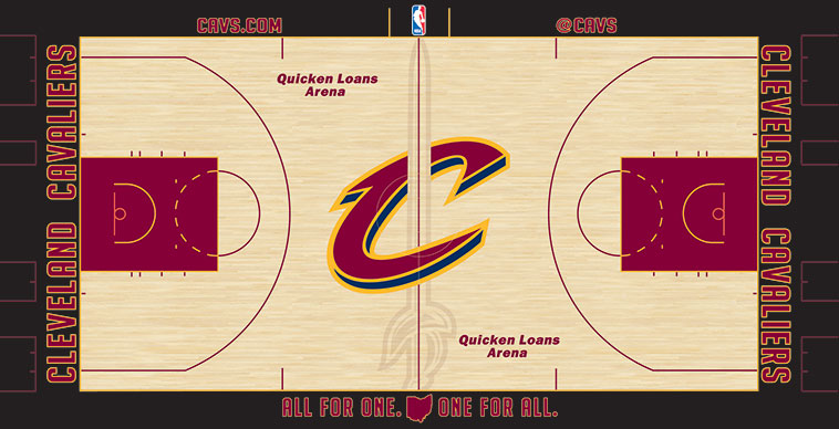 A Brand New Court Design to Greet Cavaliers for Sunday's Wine & Gold Scrimmage