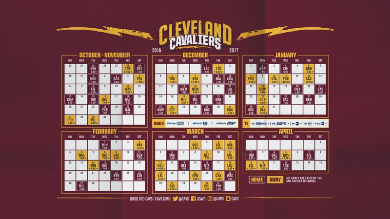 Smart image within cavs printable schedule