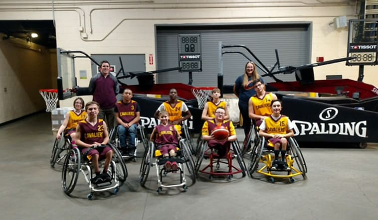 Jr. Wheelchair Cavs Play at Halftime | Cleveland Cavaliers