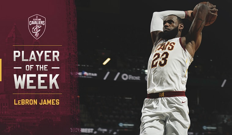 LeBron James Named East Player of the Week for Week 22 | Cleveland Cavaliers