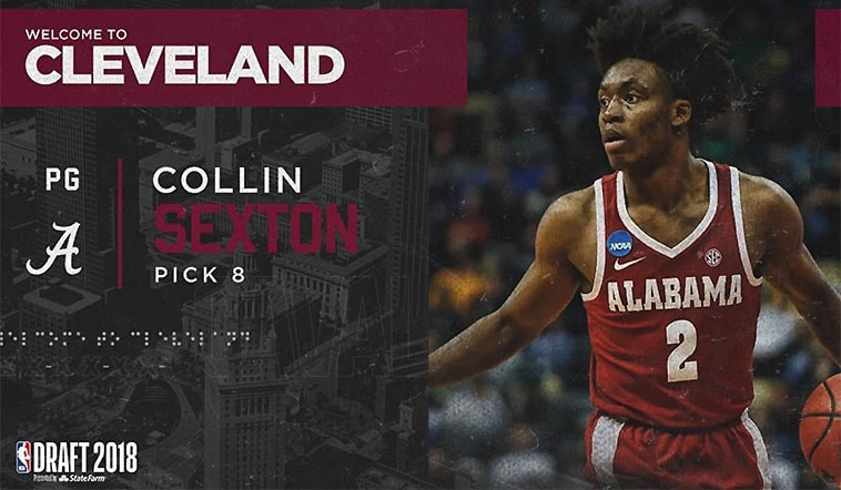Cavaliers Select Collin Sexton with the 8th Overall Pick