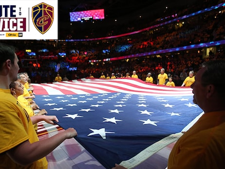 Cavs To Honor U.S. Military with a Salute to Service on Tuesday