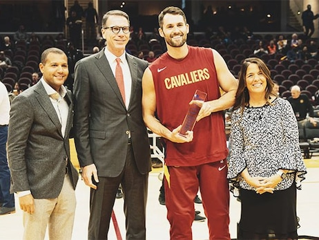 Love Receives NBA Cares Community Assist Award