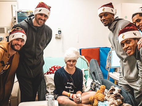 Holiday Hospital Visit Provides Prospective for Team