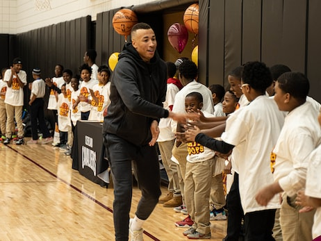 Dante Exum and Sir. C.C. Battle It Out in Math Hoops