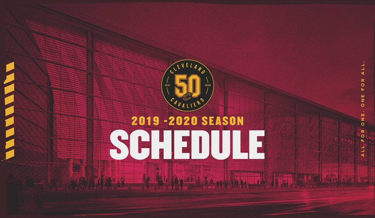 graphic about Cavs Printable Schedule identified as Cavs Regular monthly Time House Opener Slated for October. 26