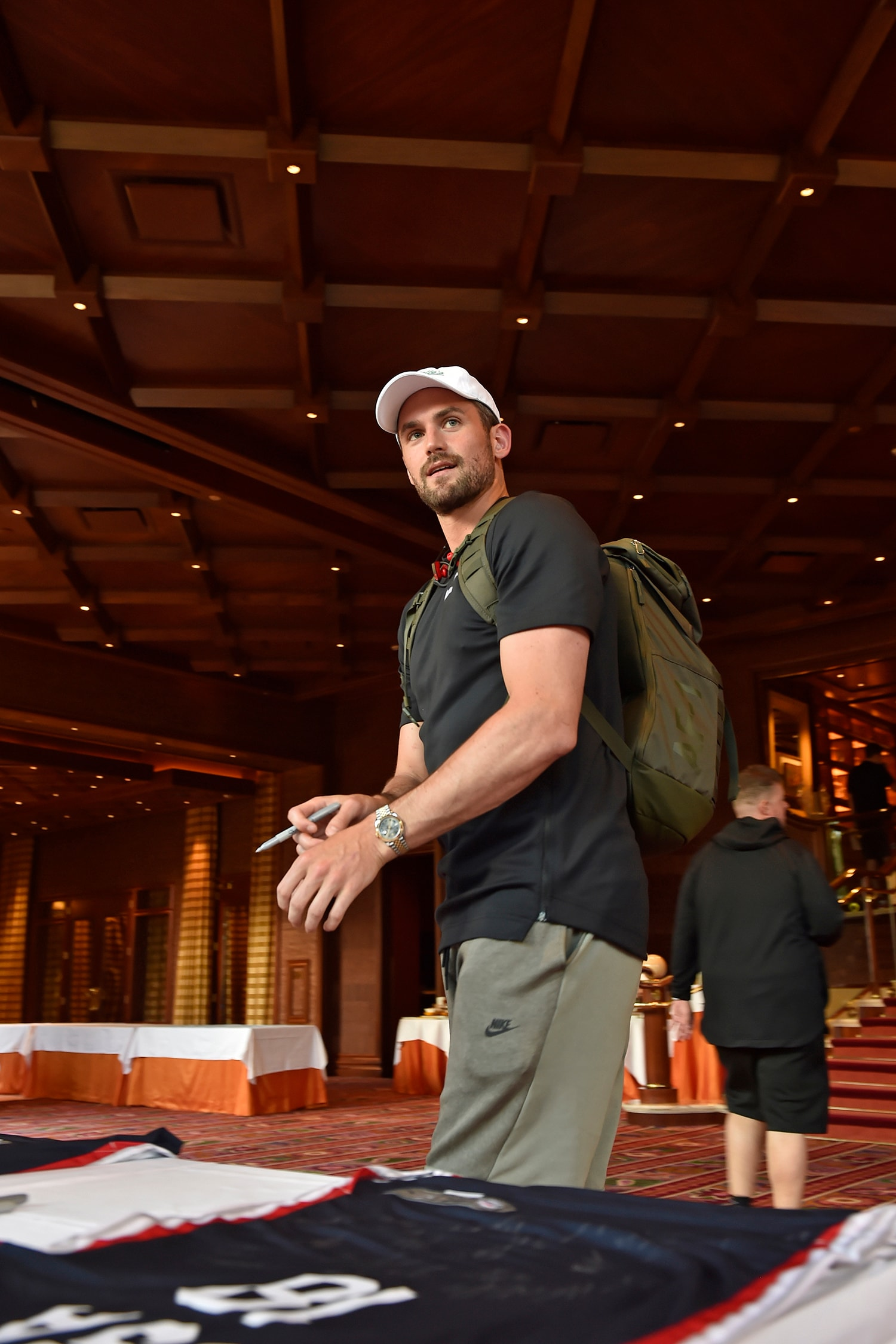 LAS VEGAS, NV - JULY 25: Kevin Love looks arrives at USAB Minicamp in Las Vegas, Nevada at the Wynn Las Vegas on July 25, 2018. (David Becker/NBAE via Getty Images)