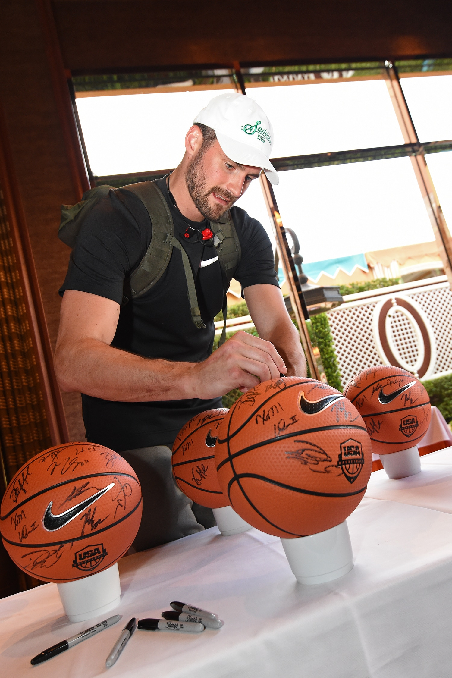 LAS VEGAS, NV - JULY 25: Kevin Love signs autographs during USAB Minicamp in Las Vegas, Nevada at the Wynn Las Vegas on July 25, 2018.(Adam Pantozzi/NBAE via Getty Images)