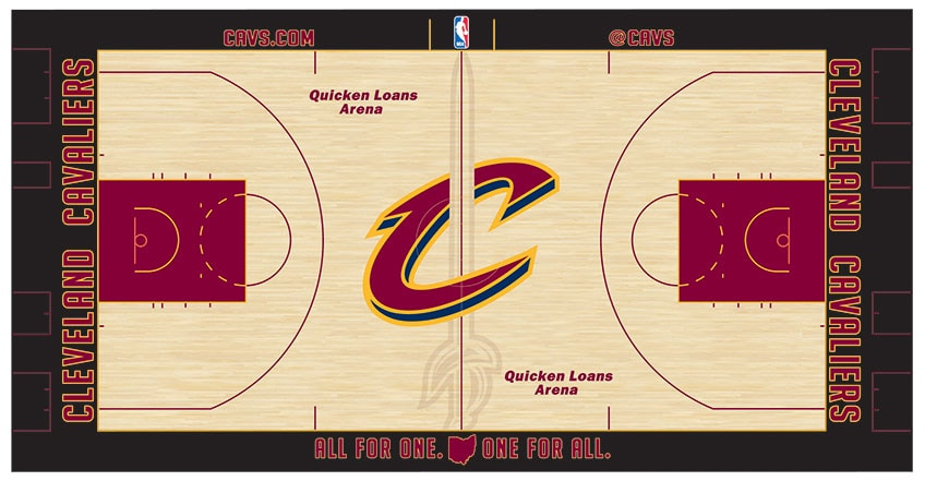 A Brand New Court Design to Greet Cavaliers for Sunday's ...