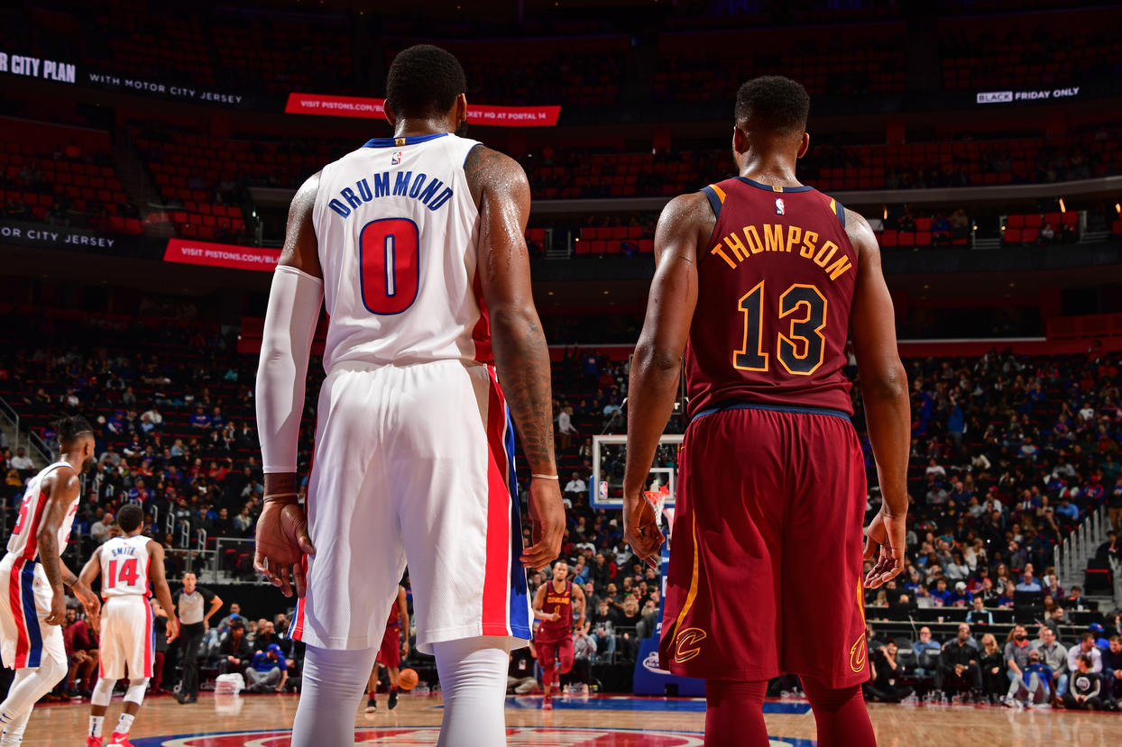 752363bd6ea DETROIT, MI - NOVEMBER 19: Andre Drummond #0 of the Detroit Pistons and