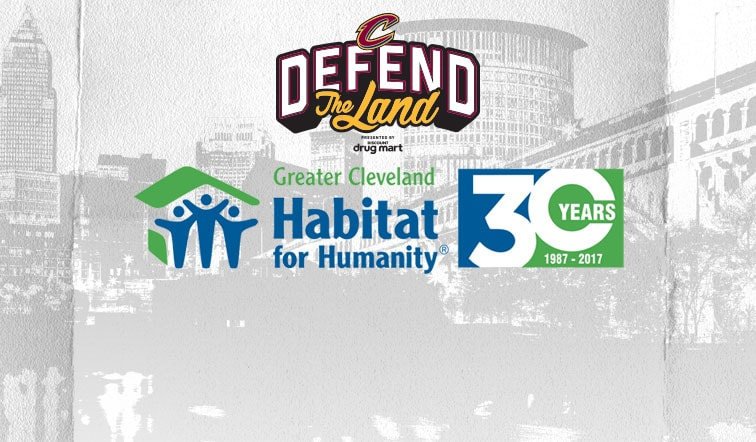 875000 Raised for Greater Cleveland Habitat for Humanity During 2017 Cavs Playoff Run