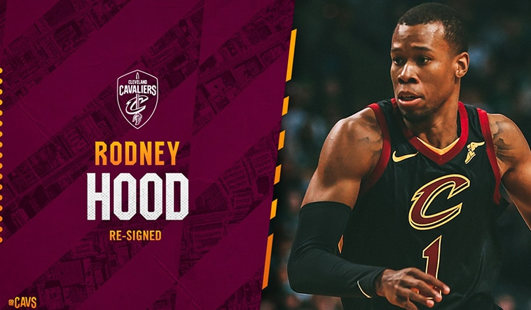 best sneakers 3b043 22f45 Cavs Re-Sign Rodney Hood | Cleveland Cavaliers
