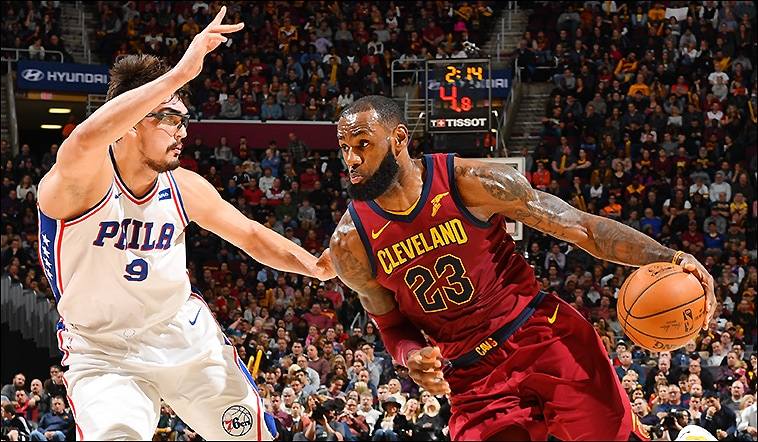 Travel-Weary Cavs Pull Past Sixers