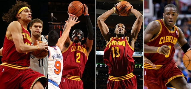 Anderson Varejao, Kyrie Irving, Tristan Thompson, Dion Waite