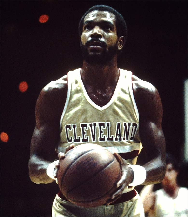 32352bf49b98 Randy Smith sports the short-lived gold home jerseys Cleveland wore from  1981-83