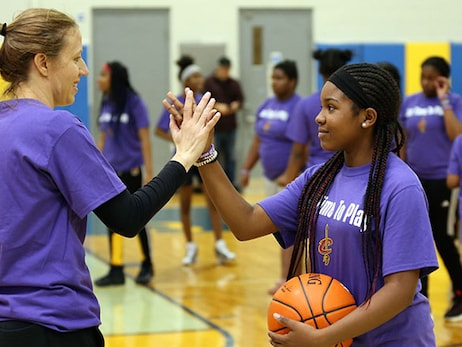 Cavs Host Girls Clinic and Panel Talk for Jr. NBA Week