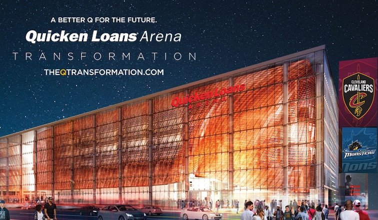 on quicken loans arena map