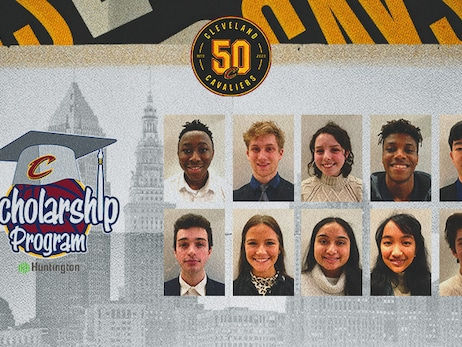 Ten High Schoolers from Northeast Ohio Named Winners of Cavaliers/Huntington Scholarship Program