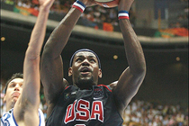 LBJ and Team USA versus Greece-September 1, 2006