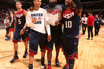 Seth Curry, James Harden, Kyrie Irving