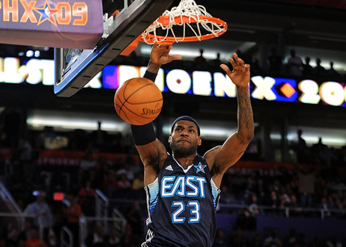 f0c9e288db6 LeBron James  23 of the Eastern Conference goes up for a dunk during the  58th