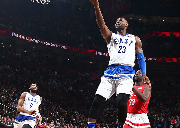 4ee457a94d1 LeBron James  23 of the Eastern Conference drives to the basket during the NBA  All