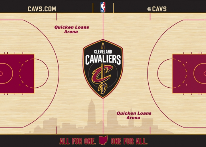 09419db68d3 Cavaliers Unveil New Home Court Design