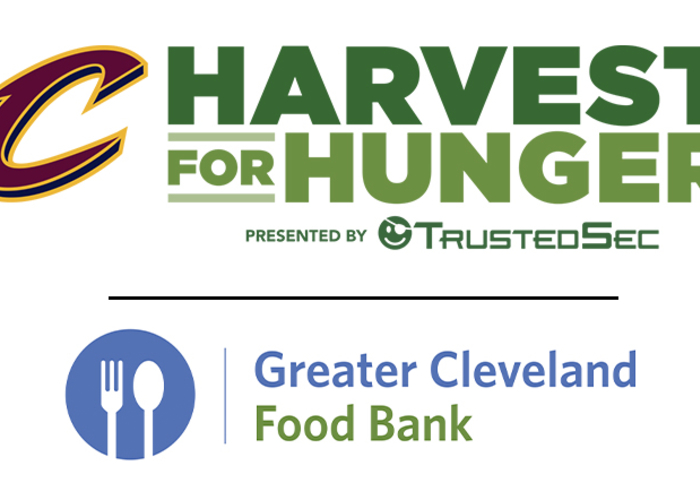 """Cavs Hosting Annual """"Harvest for Hunger"""" Campaign Presented by TrustedSec at Next Week's Games"""