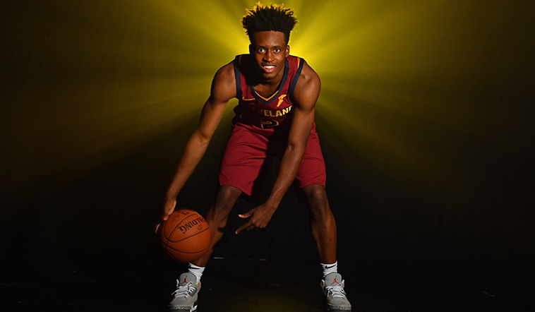 Collin Sexton Poses at the 2018 NBA Rookie Photo Shoot