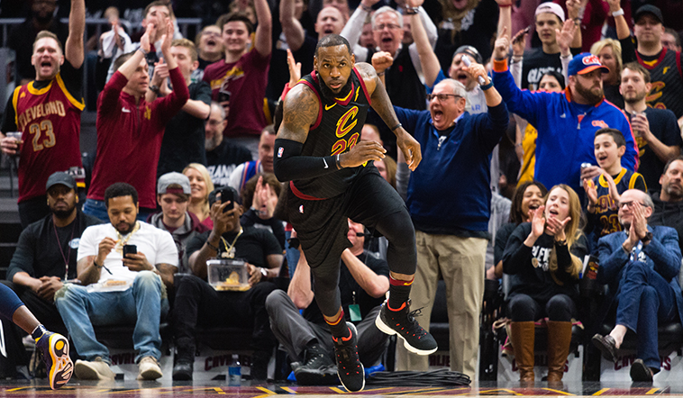 LeBron's Monster Effort Leads Cavs Past Pacers