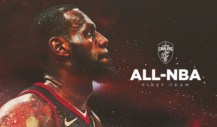 LeBron James Named to All-NBA First Team