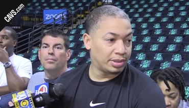 Coach Lue Checks in from Shootaround
