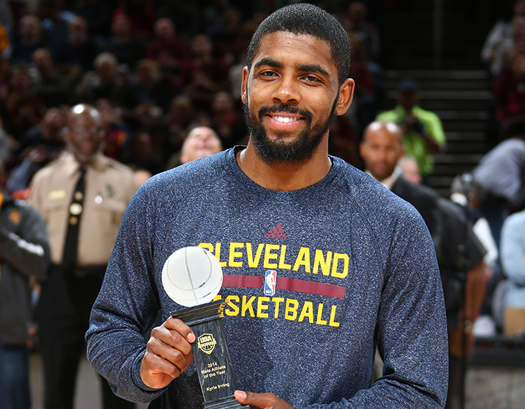 premium selection ceba6 066c8 Kyrie Irving Earns 2014 USA Basketball Male Athlete Of The Year Award