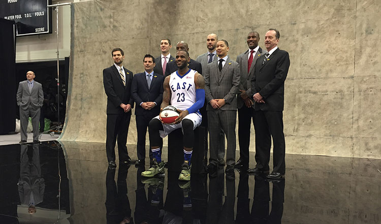 LeBron James and the Cavaliers coaching staff