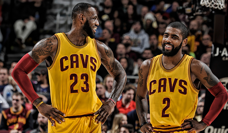 491e2efb36c Kyrie Irving and LeBron James Named 2017 NBA All-Star Starters ...