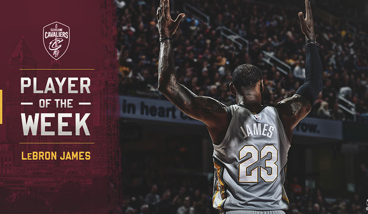 4d3f118dc9a5 LeBron James Named East Player of the Week for Week 23