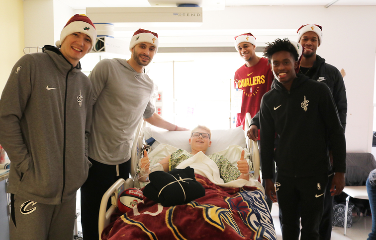 Cavs Visit Pediatric Patients at Cleveland Clinic Children's Hospital
