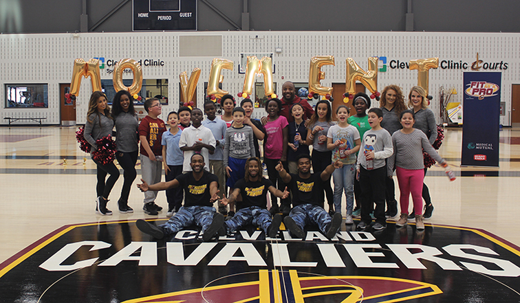 Fifth Graders Keep It Moving With Cavs Cleveland Cavaliers