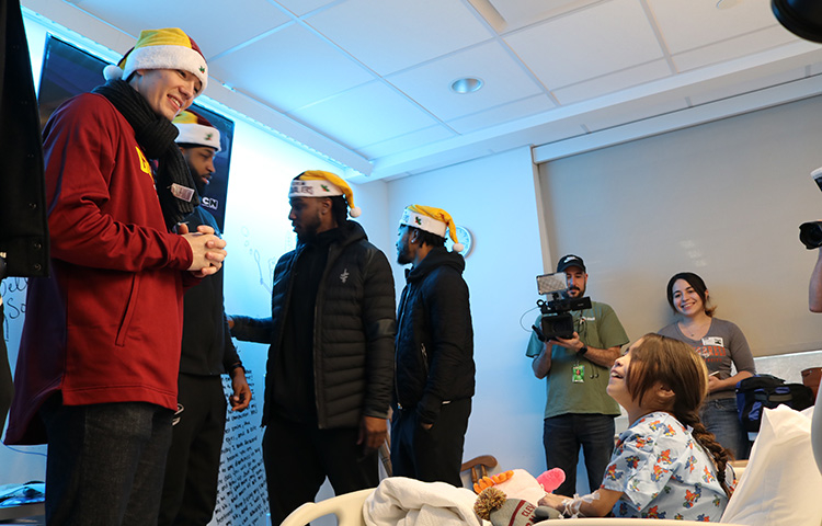 Cavs Holiday Hospital Visit - December 13, 2017