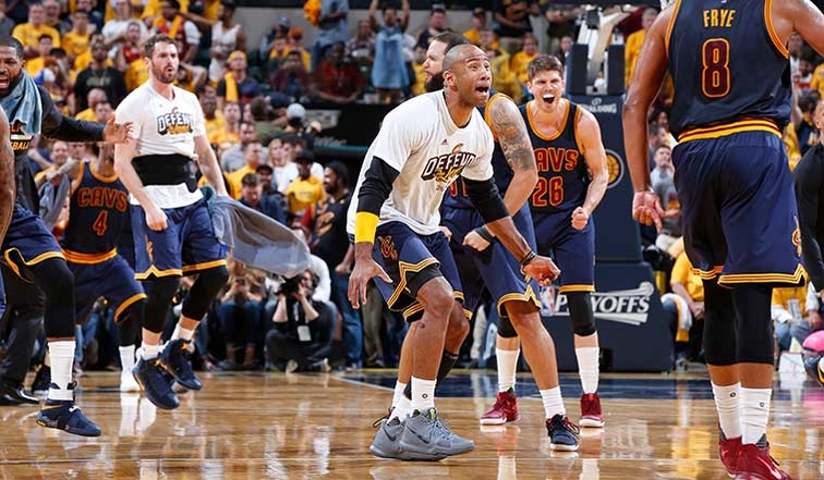 James helps Cavs hold off Pacers, earn sweep into 2nd round